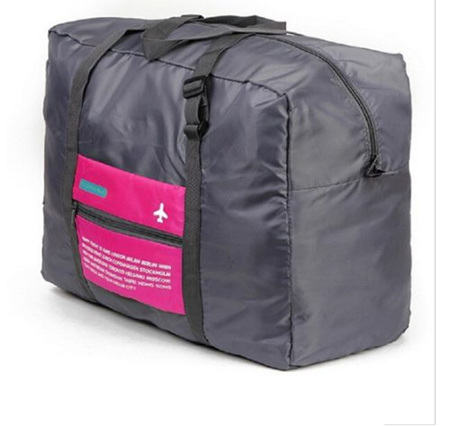 32L Pink & Grey Luggage Bag