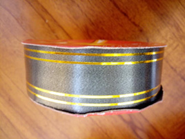 32mm Ribbon Double Gold Band - Dark Grey