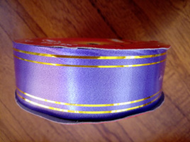 32mm Ribbon Double Gold Band - Purple