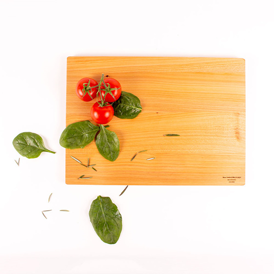 350 x 250 x 20 macrocarpa chopping board