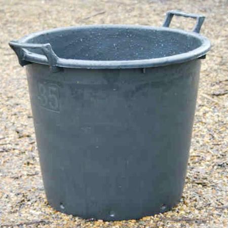 35lt Euro Tub with handles, Black