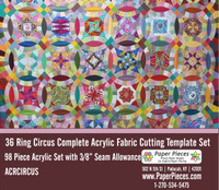 36 Ring Circus Complete Acrylic Template Set