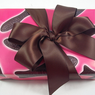 38mm Double-Sided Satin Ribbon x 5 Metres: Chocolate