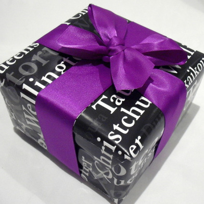 38mm Double-Sided Satin Ribbon x 5 Metres: Classic Purple