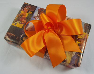 38mm Double-Sided Satin Ribbon x 5 Metres: Tangerine