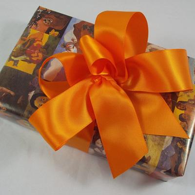 38mm Double-Sided Satin Ribbon x 5 Metres: Tangerine