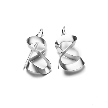 3D Ribbon Earrings