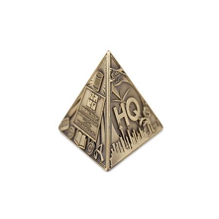 3D Trifecta Geocoin- Antique Bronze