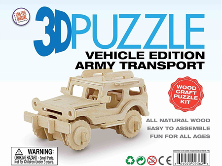 3D Vehicle Edition Puzzle - Army Transport