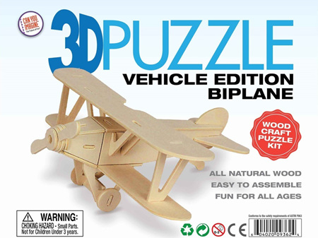 3D Vehicle Edition Puzzle - Biplane