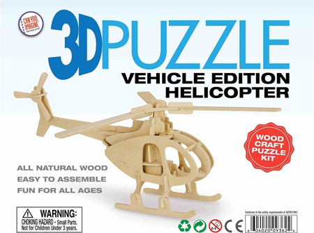 3D Vehicle Edition Puzzle - Helicopter