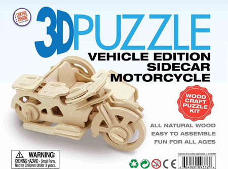 3D Vehicle Edition Puzzle - Sidecar Motorcycle