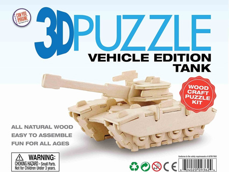 3D Vehicle Edition Puzzle - Tank