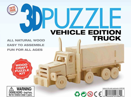 3D Vehicle Edition Puzzle - Truck