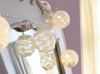 3m 20 Lace Cotton Ball Battery Operated String Fairy Lights - Warm White