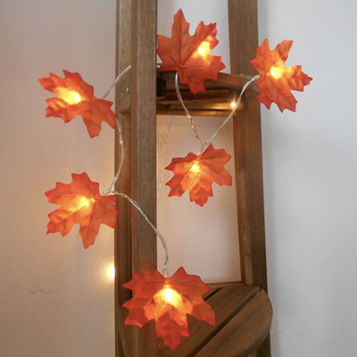 3m 20 Maple Leaves Battery Operated String Fairy Lights - Warm White