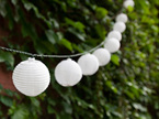 3m 20 White Solar Lantern String Lights - Warm White
