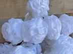 3m 20 White Tulle Pom Pom Ball Battery Fairy Lights - Warm White