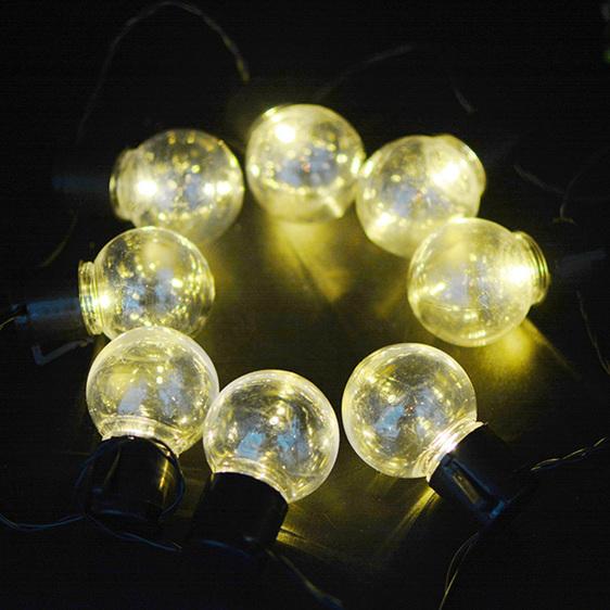 String Lights Nz: 3m 20LEDs Solar Festoon Globe Ball String Fairy Lights