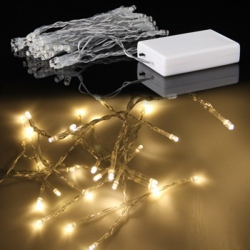 3m 30 LED Battery Operated Fairy Lights - Warm White