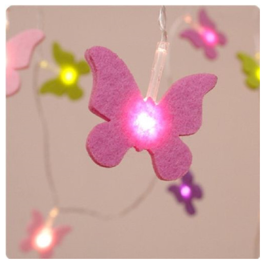 3m Butterfly Battery Operated String Fairy Lights - White - Party Lights Company