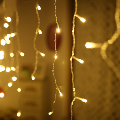 3x0.5m Indoor Connectable Icicle Lights With Remote Control - Warm White