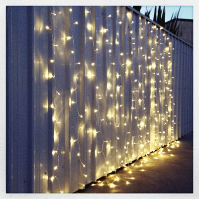 3x3m Connectable Curtain Lights Warm White with Remote Control