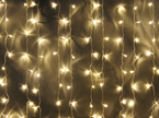 3x3m Connectable Curtain Lights with Remote Control-Warm White
