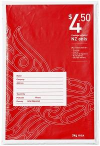 $4.50 NZ wide prepaid bag size 2