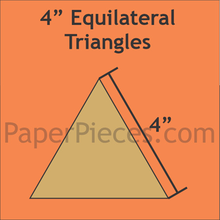 "4"" Equilateral Triangles Paper Pieces TRI400B"