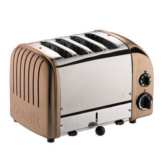 4 Slice Toaster - Copper/Stainless Steel
