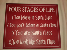 4 stages of Life - Xmas Plaque