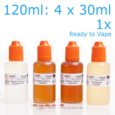 4 x 30ml - Ready to Vape - Naked Vapour e-Liquid