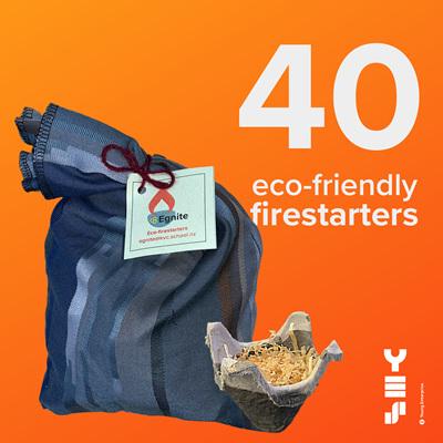 40-pack eco-firestarters