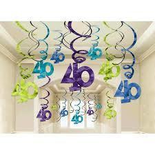 40th Birthday Foil Swirls - Mega Value Pack