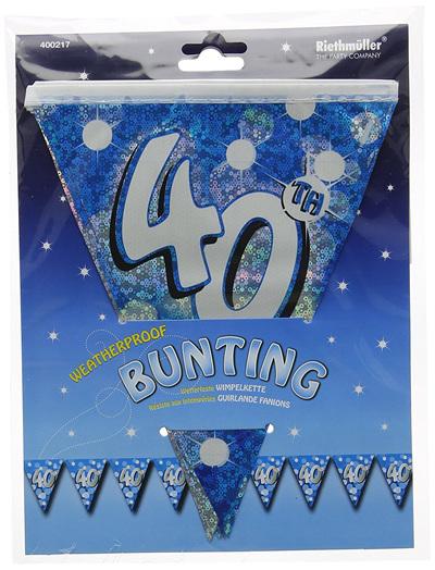 40th Birthday Glitz Bunting