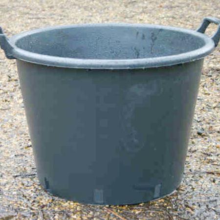 43lt Euro Tub with handles, Black