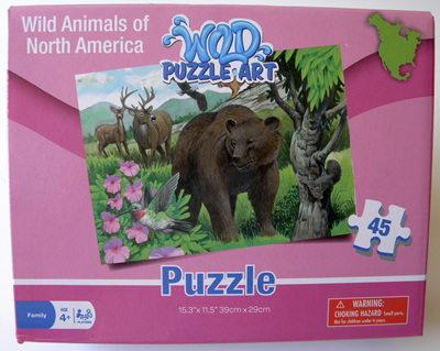 Wild Animals of North America 45 Piece Puzzle