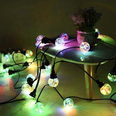 4m 12 Light Bulbs Starry Festoon Lights Connectable - Multicolour