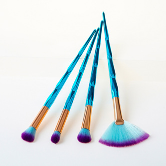 4pc Aqua Make up Brush Set