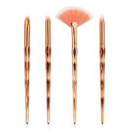 4pc Rose Gold Makeup Brush Set