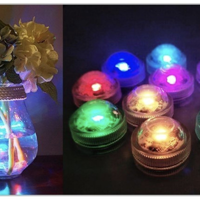 4pcs Submersible Waterproof Underwater LED Candle Tea Lights with Remote