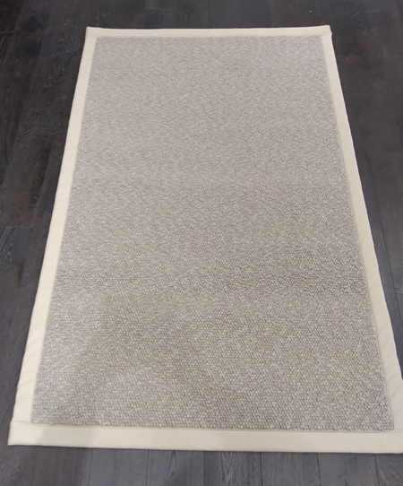5 inch Buttermilk Tape Chunky Loop Pile Area Rug