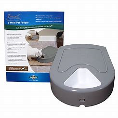 5 Meal Pet Feeder With Digital Timer