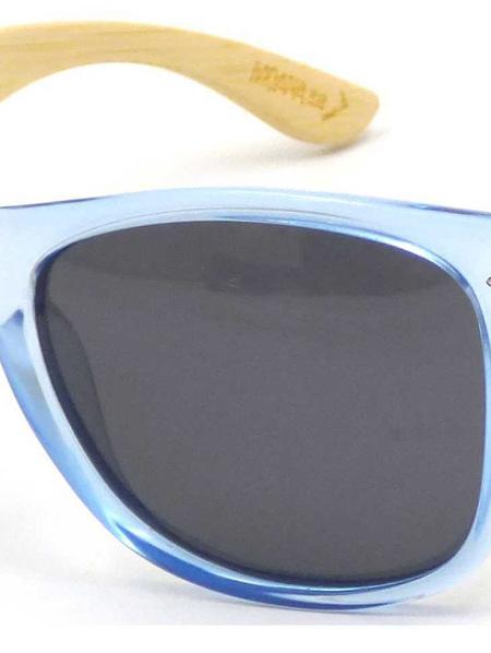 50 50s Sunnies wood arm light blue 3007