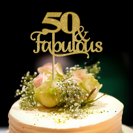 50 & Fabulous Cake Topper