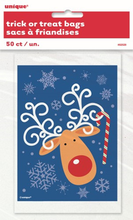 50 reindeer treat bags