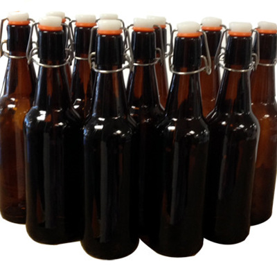 500ml Glass Flip-Top Bottles 12s
