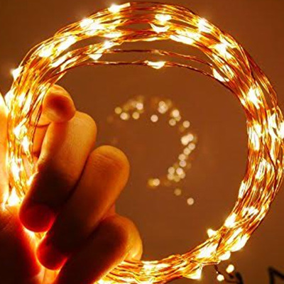50m Plug-in Copper Wire Seed Fairy Lights  - Warm White