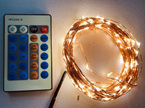 50m Plug-in Copper Wire Seed Fairy Lights with Remote Control  - Warm White